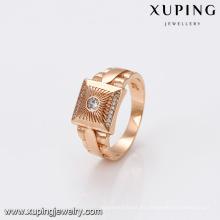 El hombre más nuevo de la joyería de 14460 Xuping suena los anillos con el oro 18K plateado