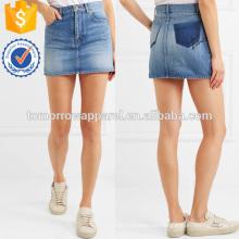 Bestickte Denim Minirock Herstellung Großhandel Mode Frauen Bekleidung (TA3026S)