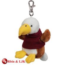 High quality custom mini plush animal keychain