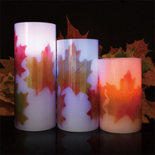 Weatherproof outdoor color changing LED candles set