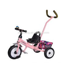 China fabricante promover el precio barato cochecito de bebé / triciclo de bebé de tres ruedas con la barra de manillar de entrenamiento / triciclo cochecito de bebé