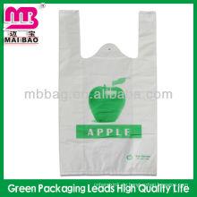 Weste Plastiktasche mit Seitenfalte / Weste Tragetasche / Singlet Tasche
