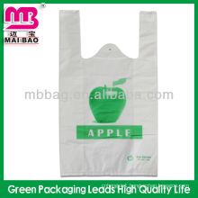 waistcoat plastic bag with side gusset / vest carrier bag / singlet bag