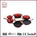 Cast Iron Enamel Cookware 7pcs Sets
