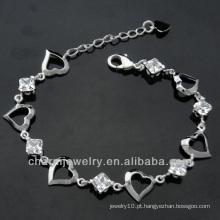 2014 Moda 925 prata esterlina moda jóias Zircon Pulseiras para as mulheres BSS-001