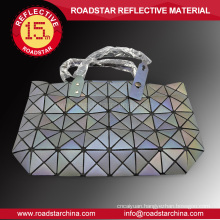 Rainbow color reflective handbag for women