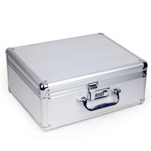 Caixa de armazenamento de alumínio com bloqueio de metal