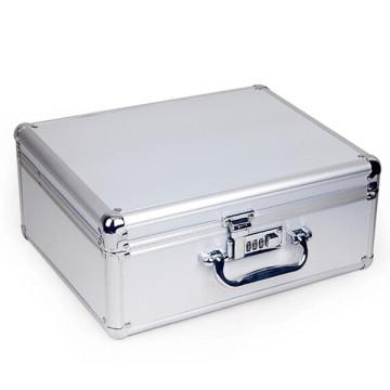 Caja de almacenamiento de aluminio con cierre de metal