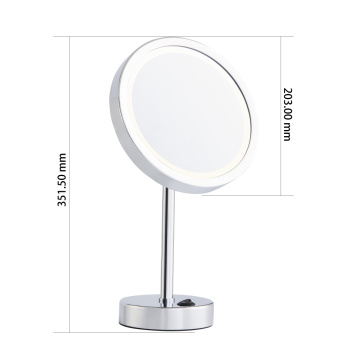 Round+single+side+makeup+mirror+with+lights