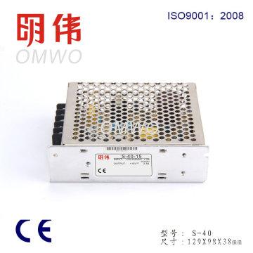 Fuente de alimentación de conmutación de salida única 40W S-40