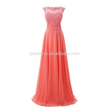 Wedding Evening Dress Formal Occasions 2016 Hot Sale High Quality A-line Appliqued Evening Dress Long Beaded Sequined Prom Dress