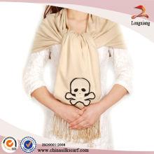 Bufanda de viscosa lisa del cráneo barato, mantón de Pashmina