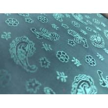 Green Flower Water Drop Jacquard Lining