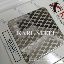 201 Ket001 Aço Inoxidável Etched Folha de Materiais de Decoração
