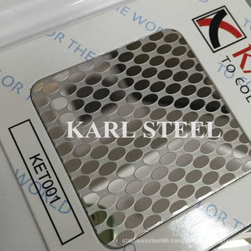430 Stainless Steel Ket001 Etched Sheet for Decoration Materials
