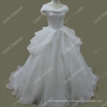 RP0109 Vestido de noiva puro e branco de organza vestido de casamento vestido de casamento vestido de casamento vestidos de noiva 100% vestido de noiva real