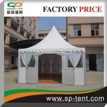5m von 5m Schallschutz Pagode Zelt 5x5m mit Sandwich Wand Glastür für Hochzeitsfeier