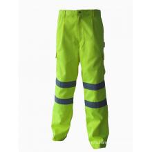 Высокая видимость безопасности рабочей одежды над брюками