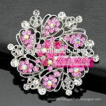 latest pink flower girls brooch