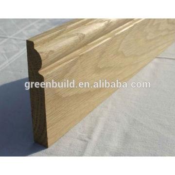 precio barato diseño de rodapié de madera maciza