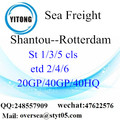Shantou Port Sea Freight Shipping ke Rotterdam
