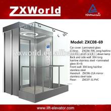 ZXC08-69 Elevador de passageiro panorâmico de vidro cheio