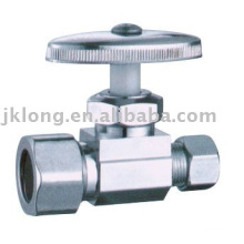 J7011 chrome plated brass angle valve cw617n brass valve