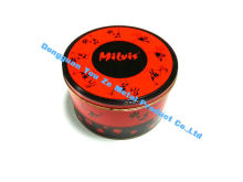 Red Airtight Food Grade Tin Containers For Coffee / Medicine