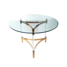 Modern Stainless Steel Coffee Table with Glass