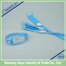 Pulseiras de identificação de material de PVC para hospitais