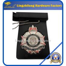 Matériel en métal et insigne en cuir d'insigne et d'emblème