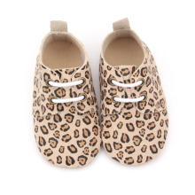 Nuovo design Handmade Leopard Baby Oxford Shoes