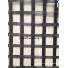 Manufacturer Polyester Coating Warp-Knitted PVC Geogrid