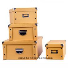 Casa de ropa de papel plegable caja de almacenamiento / caja de almacenamiento de juguetes multiusos