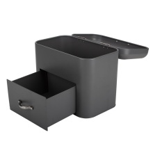 2-Layer Large Capacity Black Bread Box