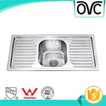 Best thick silver good stainless steel kitchen sink with tray Best thick silver good stainless steel kitchen sink with tray