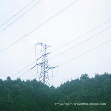 220kV Angle de tension à un seul circuit Tour de transmission d'énergie en acier