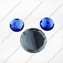 Lead Free Faceted Colored Decorative Round Glass Beads for Shoes