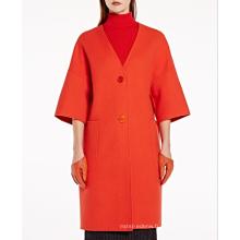 17PKCSC014 femmes double couche 100% manteau de laine de cachemire