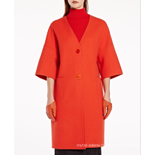 17PKCSC014 women double layer 100% cashmere wool coat