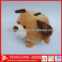 Cartoon animal shape brown dog plush money saving pots