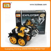 LOZ tren iluminar juguetes de plástico de montaje de ladrillo