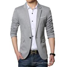 Blazer de traje de algodón de moda Blaser Blazer de hombre casual Blazer