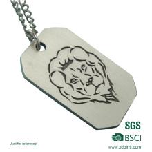 Tag de cão militar personalizado do processo material de alumínio da gravura