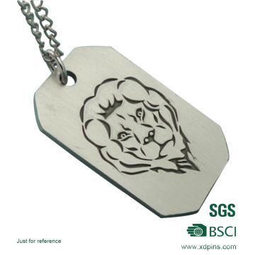 Étiquette de chien militaire en aluminium adaptée aux besoins du client de processus de gravure matérielle