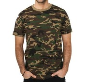Wholesale top quality oem cotton camouflage military t shirts