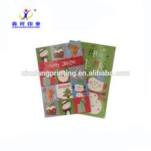 Personnalisé Logo! Pré personnalisé imprimé en vrac carte de voeux carte de voeux pour Noël