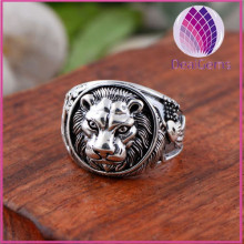 Man Top Quality Luxury 925 Sterling Silver Lion Shape Ring