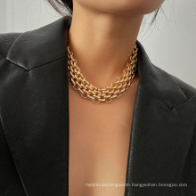 chic necklace to women, multilayer gold chocker necklaces jewelry oem