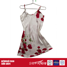 Luxury Hotel Use Printed Rose Silk Cami